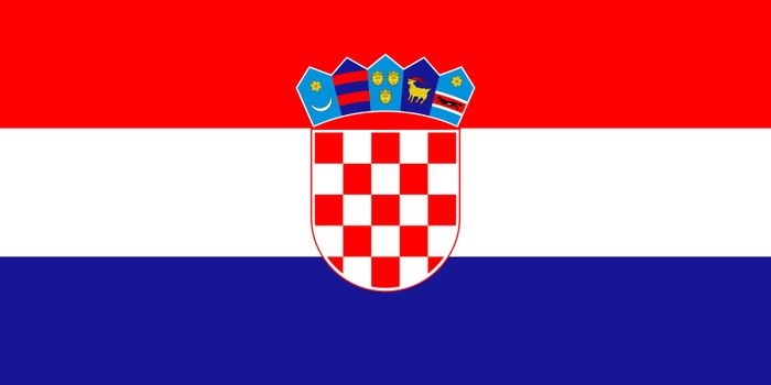Official flag of Croatia nation