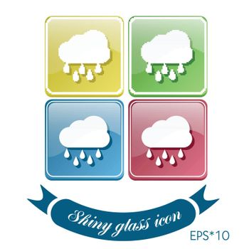 cloud rain. the weather icon