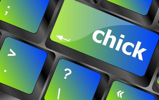 chick button on computer pc keyboard key