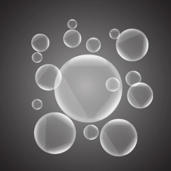 Abstract background with gray glossy bubble, stock vector