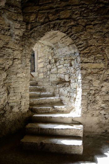 Corridor in the Old Fortress in the Ancient City of Kamyanets-Podilsky