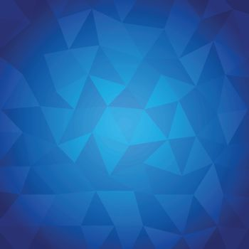 Abstract triangle with blue background, stock vector