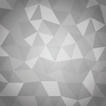 Abstract triangle with gray background, stock vector