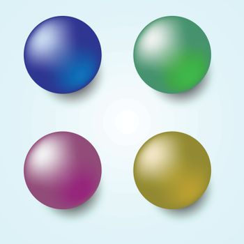 Colorful 3D sphere isolated on white background, stock vector