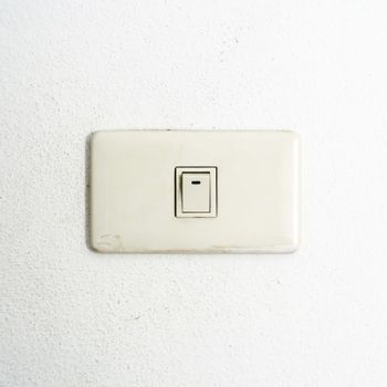 white switch on wall