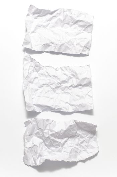 separate of crumpled paper