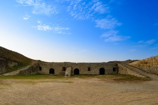 Ruins of New Fortress in the Ancient City of Kamyanets-Podilsky
