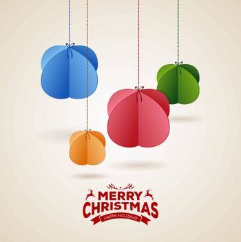 Vector illustration of Stylized christmas balls background