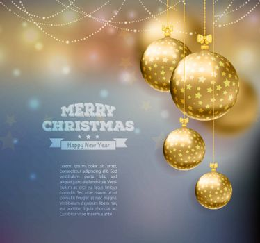 Vector illustration of Christmas balls template background
