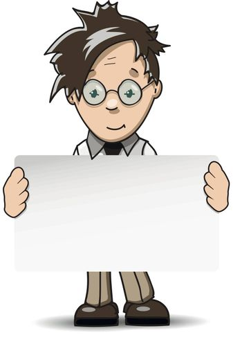 illustration man in glasses with white background