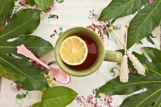 Tea in a green mug