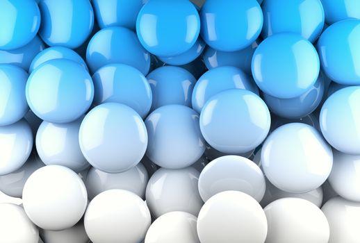 Circular shapes in blue tone