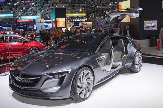 MOSCOW-SEPTEMBER 2: Opel Monza concept at the Moscow International Automobile Salon on September 2, 2014 in Moscow, Russia