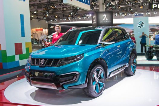 MOSCOW-SEPTEMBER 2: Suzuki iv4 concept at the Moscow International Automobile Salon on September 2, 2014 in Moscow, Russia
