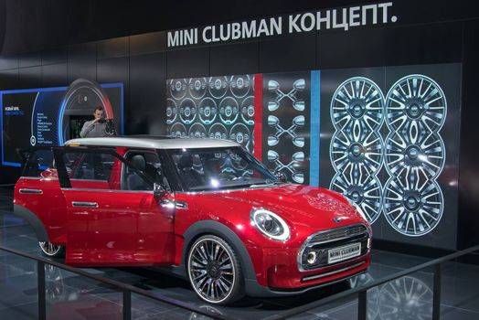 Moscow-September 2: Mini Clubman Concept  at the Moscow International Automobile Salon on September 2, 2014 in Moscow