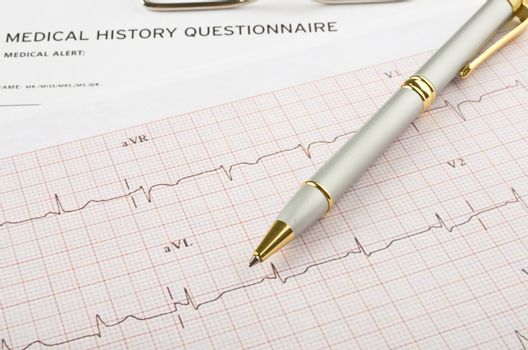 Medical questionnaire and cardiogram