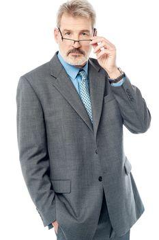 Handsome businessman wearing eyeglasses