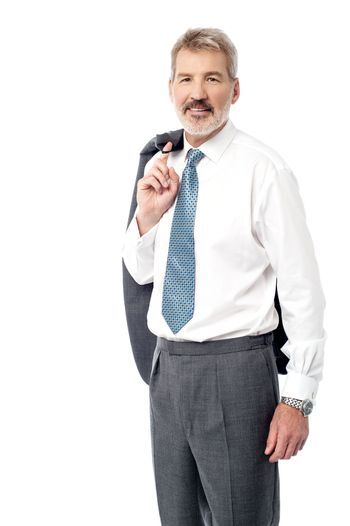 Smart businessman in a relaxed pose