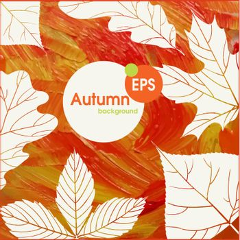 Magic Autumn Background.  Vector Illustration. Eps 10