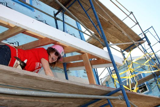 """Alicia Witt at the Habitat for Humanity build by Showtime's """"House of Lies"""" and Shameless, Magnolia Blvd, Lynwood, CA 10-25-14 David Edwards/DailyCeleb.com 818-915-4440/ImageCollect"""
