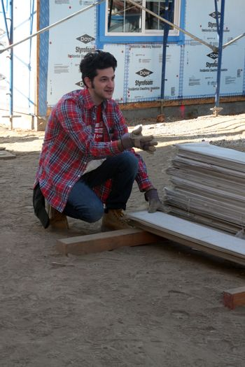 """Ben Schwartz at the Habitat for Humanity build by Showtime's """"House of Lies"""" and Shameless, Magnolia Blvd, Lynwood, CA 10-25-14 David Edwards/DailyCeleb.com 818-915-4440/ImageCollect"""
