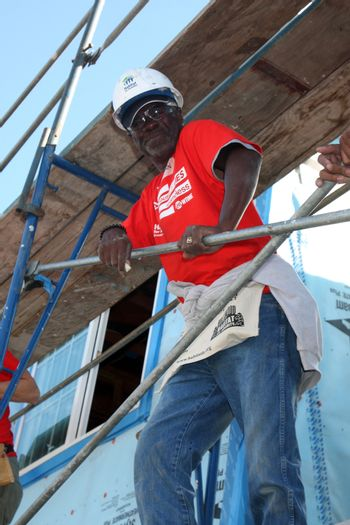 """Glynn Turman at the Habitat for Humanity build by Showtime's """"House of Lies"""" and Shameless, Magnolia Blvd, Lynwood, CA 10-25-14 David Edwards/DailyCeleb.com 818-915-4440/ImageCollect"""