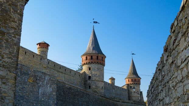 Old Fortress in the Ancient City of Kamyanets-Podilsky
