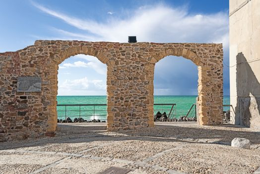 Architecture at Cefalu Sicily arches close up