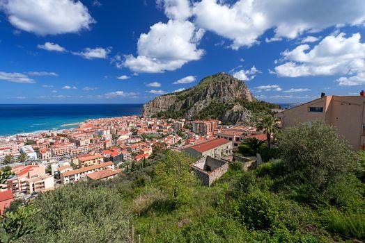 Bay in Cefalu Sicily wide