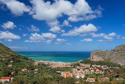 Bay in Cefalu Sicily horizontal