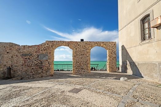 Architecture at Cefalu Sicily arches