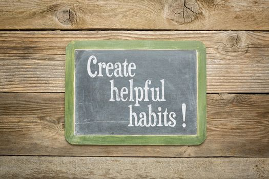 create helpful habits