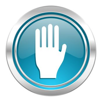 stop icon, hand sign
