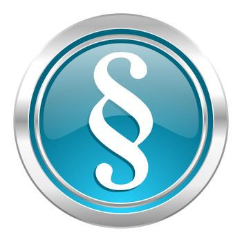 paragraph icon, law sign