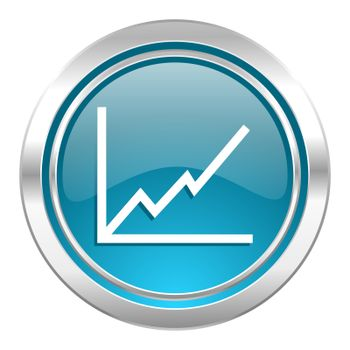 chart icon, stock sign