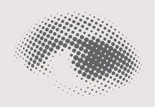 Human dots eye.Vector