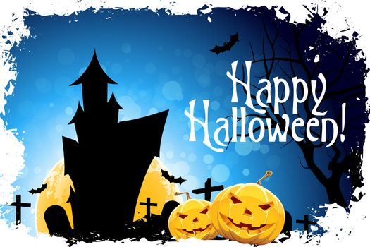"""Abstract Halloween Card with Message """"Happy Halloween!"""""""