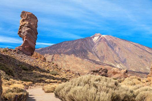 Roque Chinchado and Teide. Tenerife, Canary Islands, Spain, Europe