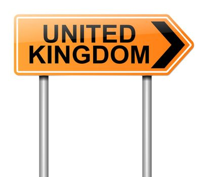 United Kingdom sign.
