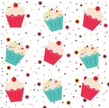 Funny ice cream pattern background