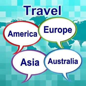 Travel Words Representing Travels Explore And Tours