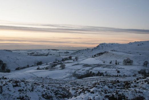 snow, snowy, moor, moorlands, staffordshire, winter, ramshaw rocks, sunset, cold, frost, ice, freezing, picturesque,