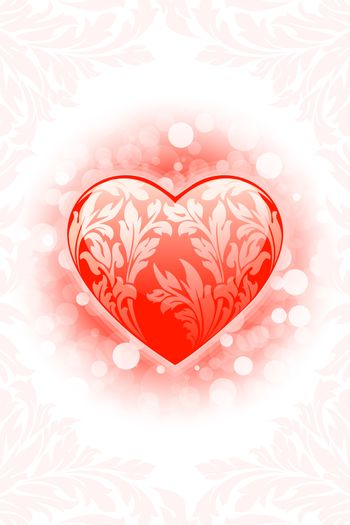 Abstract Valentine's day Heart background with sparkle