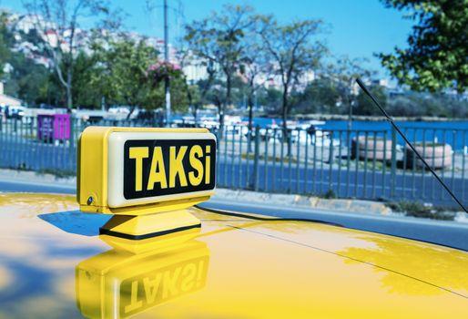 Taksi sign in Istanbul.