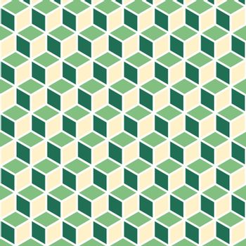 Abstract isometric green cube pattern background, stock vector