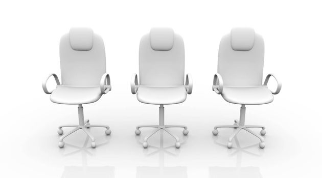 3D rendered office chair.