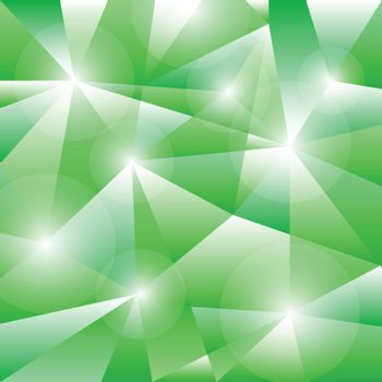 Geometric pattern with green triangles background, stock vector