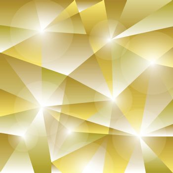 Geometric pattern with golden triangles background, stock vector