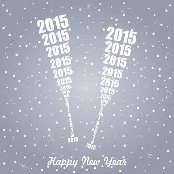 new year holiday two glasses