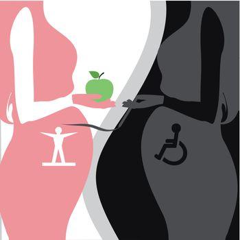 two pregnant women healthy lifestyle